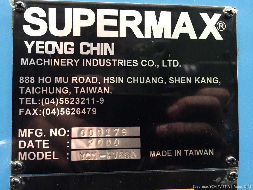 Vertical machining center supermax ycm fv 56 a tp machines new photos sciox Choice Image
